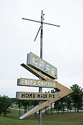 An old sign for a cafe along Route 66. Missoula Photographer