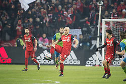 December 9, 2017 - Toronto, Ontario, Canada - Toronto FC midfielder MICHAEL BRADLEY (4) controls the ball in the midfield during the MLS Cup championship match at BMO Field in Toronto, Canada.  Toronto FC defeats Seattle Sounders 2 to 0. (Credit Image: © Mark Smith via ZUMA Wire)
