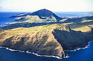 Makapu'u Point & Lighthouse in foreground, Koko Crater in background, Oahu, Hawaii