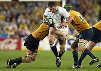 Photo. Steve Holland. England v Australia Final at the Telstra Stadium, Sydney. RWC 2003.<br />22/11/2003.<br />Martin Johnston