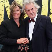 NLD/Amsterdam/20140508 - Wereldpremiere voorstelling Anne, Derek de Lint en partner Judith Jesserun