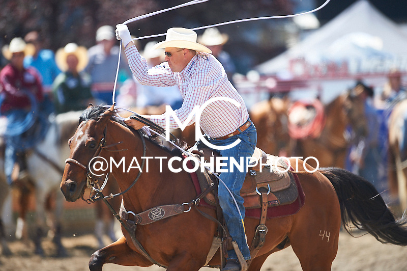 Team roper Jake Stanley of Hermiston, OR competes at the Redding Rodeo in Redding, CA.<br /> <br /> <br /> UNEDITED LOW-RES PREVIEW<br /> <br /> <br /> File shown may be an unedited low resolution version used as a proof only. All prints are 100% guaranteed for quality. Sizes 8x10+ come with a version for personal social media. I am currently not selling downloads for commercial/brand use.