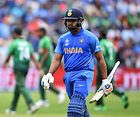 Cricket - 2019 ICC Cricket World Cup - Group Stage: Bangladesh vs. India<br /> <br /> India's Rohit Sharma dismissed for 104, at Edgbaston<br /> <br /> COLORSPORT/ASHLEY WESTERN