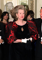 Raine, Comtesse de Chambrun (stepmother of the late Diana, Princess of Wales) at the Grosvenor House Hotel for the Carlton London Restaurant Awards.  * Raine Spencer