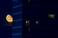 Gibbous Moonrise by Luxor Hotel