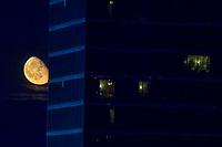Gibbous Moonrise by Luxor Hotel