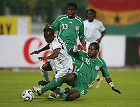 v.l. Mathew Amoah, Christian Obodo Nigeria<br /> Africa Cup 2006 Nigeria - Ghana<br /> Foto: Digitalsport