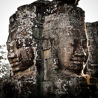 The Bayon temple in the walled city of Angkor Thom, Siem Reap, Cambodia