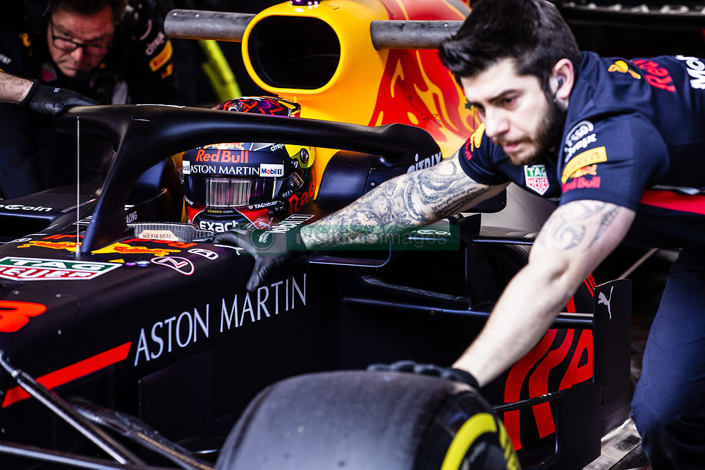 February 18, 2019 - Barcelona, Barcelona, Spain - Max Verstappen from Nederland with 33 Aston Martin Red Bull Racing - Honda RB15 in action at the pitlane during the Formula 1 2019 Pre-Season Tests at Circuit de Barcelona - Catalunya in Montmelo, Spain on February 18, 2019. (Credit Image: © Xavier Bonilla/NurPhoto via ZUMA Press)