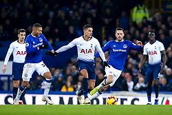 Erik Lamela of Tottenham Hotspur takes on Richarlison and Gylfi Sigurdsson of Everton - Mandatory by-line: Robbie Stephenson/JMP - 23/12/2018 - FOOTBALL - Goodison Park - Liverpool, England - Everton v Tottenham Hotspur - Premier League