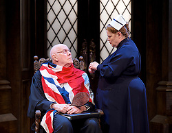 Forty Years On <br /> by Alan Bennett <br /> at Festival Theatre Chichester , Great Britain <br /> press photocall <br /> 25th April 2017 <br /> <br /> Richard Wilson as Headmaster <br /> <br /> <br /> <br /> Jenny Galloway as Matron <br /> <br /> <br /> <br /> Photograph by Elliott Franks <br /> Image licensed to Elliott Franks Photography Services