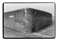 Wall in Seyssel street, E14, London, 1982. South-East London, 1982