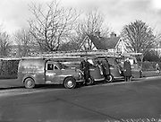 10/12/1960<br /> 12/10/1960<br /> 12 October 1960<br /> Irish T.V. Rental vans at Herbert Park, Ballsbridge, Dublin. The company were based on Grafton Street.