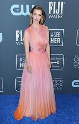 Betty Gilpin at the 25th Annual Critics' Choice Awards held at the Barker Hangar in Santa Monica, USA on January 12, 2020.