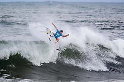 Jordy Smith of South Africa is eliminated from the Hawaiian Pro after placing fourth in quarterfinal heat 3 of the 2018 Hawaiian Pro at Haleiwa, Oahu, Hawaii, USA.