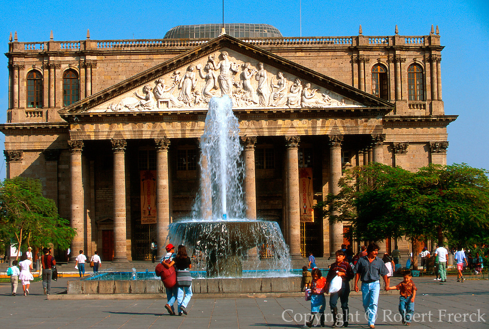 MEXICO, GUADALAJARA Plaza de la Liberacion and Theater