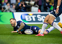 Rugby Union - 2017 Autumn Internationals - Scotland vs. Australia<br /> <br />  Byron McGuigan try at Murrayfield.<br /> <br /> COLORSPORT