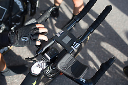 Aero power meter rig on a Cylance Pro Cycling bike at the Crescent Vargarda - a 42.5 km team time trial, starting and finishing in Vargarda on August 11, 2017, in Vastra Gotaland, Sweden. (Photo by Balint Hamvas/Velofocus.com)