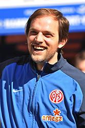 17.04.2010, HSH Nordbank Arena, Bremen, GER, 1.FBL, Hamburger SV vs 1.FSV Mainz 05, im Bild Trainer Thomas Tuchel (Mainz) ist vor dem Spiel gut gelaunt und lacht  EXPA Pictures © 2010, PhotoCredit: EXPA/ nph/  Witke / SPORTIDA PHOTO AGENCY
