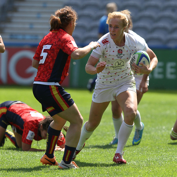 Michaela Stanford in action for England, Women's Sevens World Series - London Leg, The Stoop, Twickenham, London, England, Day 2 on 16th May 2015.