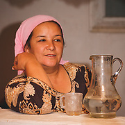 Kyrgyz lady - a friendly face after a long trek