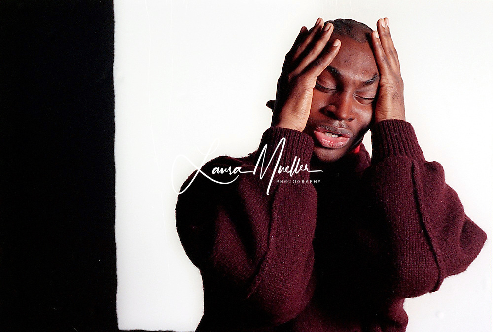 3/92 John Love - Creative, Actor, Artist, Playwright, Director - Charlotte, NC. photo by L.Mueller/The Charlotte Observer