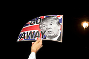Protest against Donald Trump's travel ban on Muslims and his being invited to a state visit to Britain on January 30th 2017 in London United Kingdom.