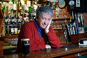 Writer Billy Keane, who launches his latest book of colourful musings entitled The Best of Billy Keane' in The Shelbourne Hotel Dublin on Wednesday November 2nd at 8pm pictured with his dad's old typewriter in his pub in Listowel County Kerry this week.<br /> Photo: Don MacMonagle
