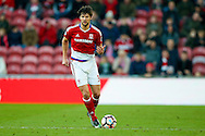 Middlesbrough defender George Friend (3)  with the ball  during the The FA Cup match between Middlesbrough and Sheffield Wednesday at the Riverside Stadium, Middlesbrough, England on 8 January 2017. Photo by Simon Davies.