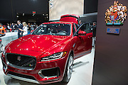 New York, NY, USA-23 March 2016. Jaguar's new crossover vehicle, the F-Pace, its first performance SUV.