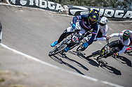 #100 (MAHIEU Romain) FRA  at Round 9 of the 2019 UCI BMX Supercross World Cup in Santiago del Estero, Argentina