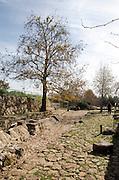 Israel, Ramat Hanadiv near Zichron Yaacov. Ein Tzur (Tzur spring) ancient water system