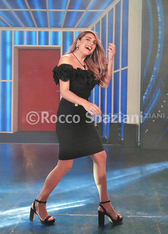 Ivana Icardi. Entrata dei concorrenti nella casa del Grande Fratello a Cinecitta  .Canale  5 ,Roma.8 Aprile 2019