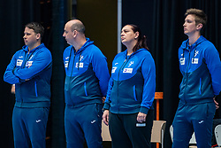 Coach Uros Bregar of Slovenia, Ass. coach Salvador Krajncic of Slovenia, Ass. coach Branka Jovanovic of Slovenia in action during the Women's friendly match between Netherlands and Slovenia at De Maaspoort on march 19, 2021 in Den Bosch, Netherlands (Photo by RHF Agency/Ronald Hoogendoorn)