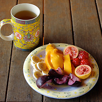 Hawaii fruit and tea