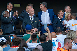 07-07-2019 FRA: Final USA - Netherlands, Lyon<br /> FIFA Women's World Cup France final match between United States of America and Netherlands at Parc Olympique Lyonnais. USA won 2-0 / President Emmanuel Macron, FIFA-voorzitter Gianni Infantino