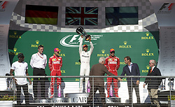 October 22, 2017 - Austin, United States of America - Motorsports: FIA Formula One World Championship 2017, Grand Prix of United States, ..Usain Bolt, James Allison (Mercedes AMG Petronas F1 Team), #5 Sebastian Vettel (GER, Scuderia Ferrari), #44 Lewis Hamilton (GBR, Mercedes AMG Petronas F1 Team), Bill Clinton (Former President of the USA), #7 Kimi Raikkonen (FIN, Scuderia Ferrari) (Credit Image: © Hoch Zwei via ZUMA Wire)