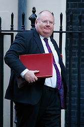 © licensed to London News Pictures. London, UK 14/01/2014. Communities Secretary, Eric Pickles attending to a cabinet meeting on Downing Street on Tuesday, 14 January 2014. Photo credit: Tolga Akmen/LNP