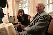 Beryl Bainbridge and Colin Dexter, Oldie of the Year Awards. Simpsons-in-the-Strand. London. 13 March 2007.  -DO NOT ARCHIVE-© Copyright Photograph by Dafydd Jones. 248 Clapham Rd. London SW9 0PZ. Tel 0207 820 0771. www.dafjones.com.