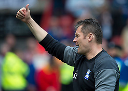 Birmingham City first team coach Steve Cotterill thanks Bristol City supporters for their warm reception on his visit to Ashton Gate - Mandatory by-line: Paul Knight/JMP - 07/05/2017 - FOOTBALL - Ashton Gate - Bristol, England - Bristol City v Birmingham City - Sky Bet Championship