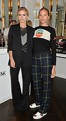 Left to right, LAURA BAILEY and PHOEBE COLLINGS-JAMES at the launch of the Space NK Global Flagship store at 285-287 Regent Street, London on 10th November 2016.