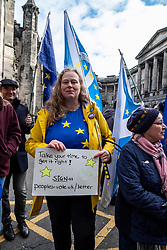 Pictured: Originallyt from Germany Lecturer Catarina Beker waited the news from the court.<br /><br />Judges delayed ruling on a legal bid aimed at forcing the Prime Minister to send a letter requesting a Brexit extension if no withdrawal deal is reached by October 19<br /><br />Ger Harley | EEm 21 October 2019