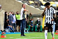 """RIO DE JANEIRO, BRAZIL - JANUARY 30: Alexi Stival """" Cuca """" Head Coach of Santos FC reacts ,during the final of Copa CONMEBOL Libertadores 2020 between SE Palmeiras and Santos FC at Maracana Stadium on January 30, 2021 in Rio de Janeiro, Brazil. (Photo by MB Media/BPA)"""