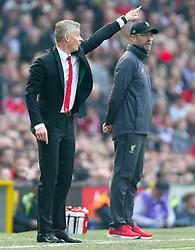 Manchester United caretaker manager Ole Gunnar Solskjaer gestures on the touchline