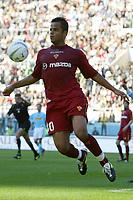 Roma 21/4/2004 Campionato Italiano Serie A <br />Lazio - Roma 1-1 <br />Amantino Mancini (Roma)<br />Lazio and Roma are playing again after it was suspended on March 21, 2004, for security reasons.  <br />Foto Andrea Staccioli Graffiti