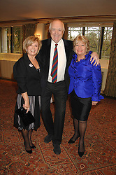 Left to right, ELAINE PAIGE, SIR TIM RICE and JUDITH CHALMERS at a tribute lunch for Elaine Paige hosted by the Lady Taverners at The Dorchester, Park Lane, London on 13th November 2007.<br />