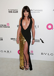 Lea Michele arriving at the Elton John Oscar Party held in Beverly Hills, Los Angeles, USA.