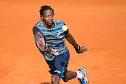 Paris, France. Roland Garros. May 27th 2013.<br /> French player Gael MONFILS against Tomas BERDYCH