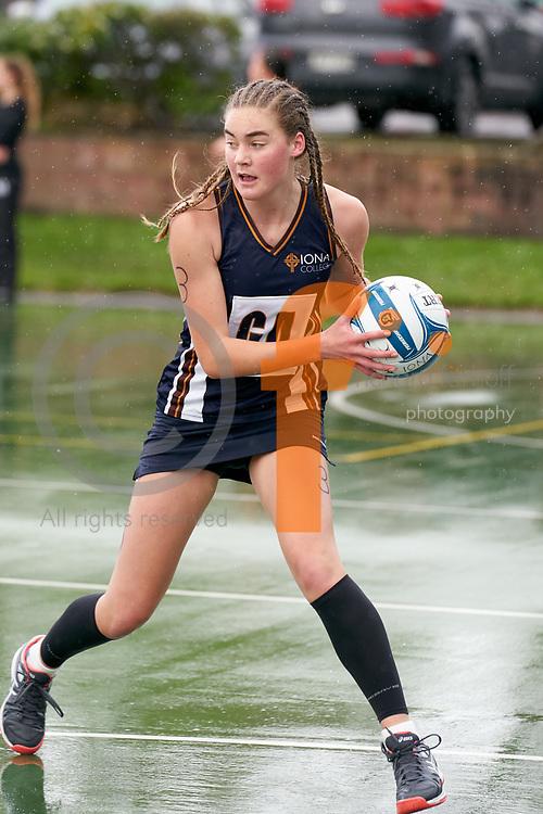 2018 NZSS Girls Netball Tournament.<br /> Vautier Park Netball Centre, Palmerston North.<br /> Iona College