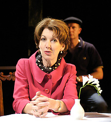 Life After Scandal <br /> by Robin Soans<br /> at the Hampstead Theatre, London, Great Britain<br /> press photocall<br /> 21st September 2007 <br /> <br /> Geraldine Fitzgerald (as Edwina Currie) and Simon Coates (as Duncan Roy)<br /> <br /> Photograph by Elliott Franks